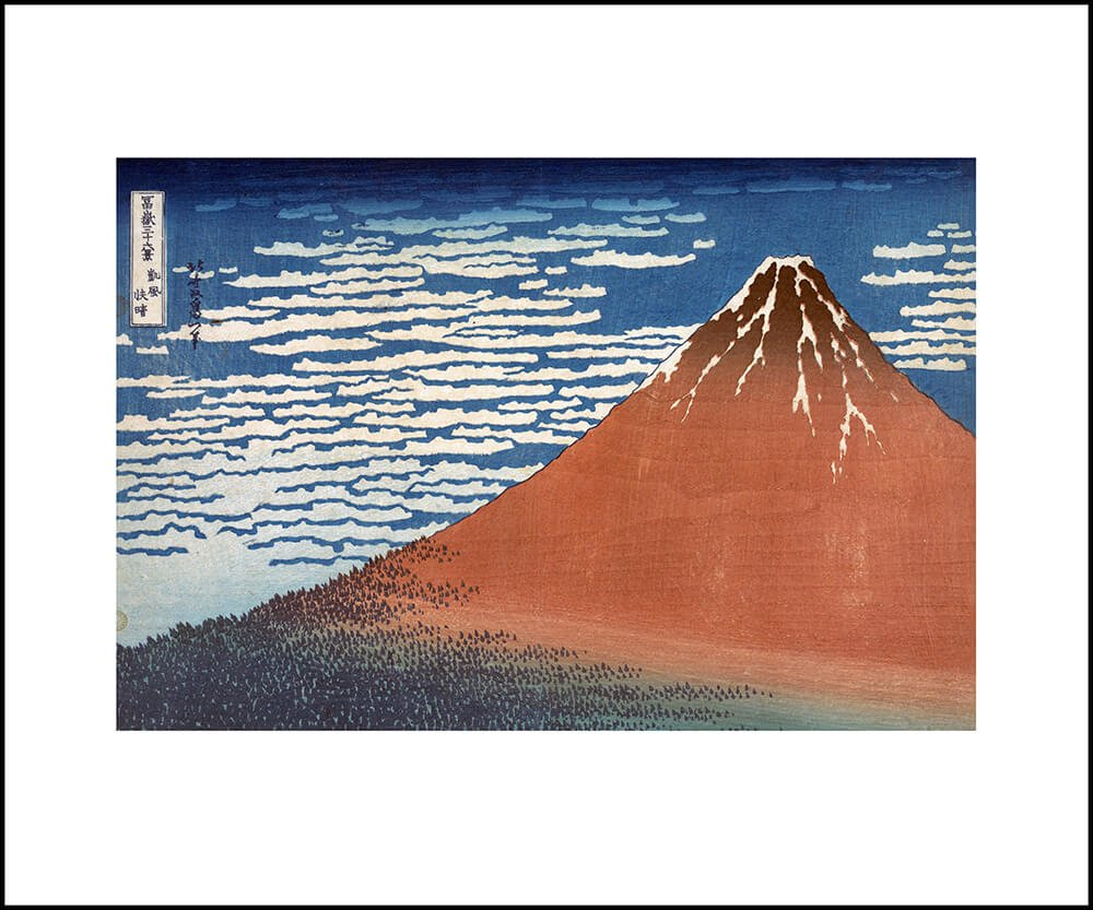 South Wind, Clear Sky (Gaifū kaisei), also known as Red Fuji, from the series Thirty-six Views of Mount Fuji (Fugaku sanjūrokkei)(JAPKH9)